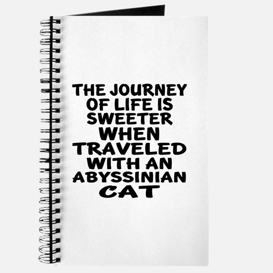 Traveled With abyssinian Cat Journal