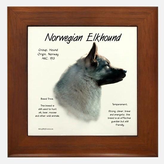 Norwegian Elkhound Framed Tile