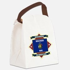 Wisconsin diamond.png Canvas Lunch Bag