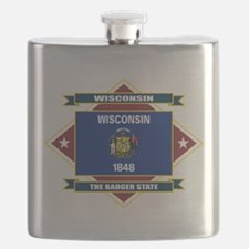 Wisconsin diamond.png Flask