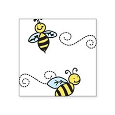 "Bees Square Sticker 3"" x 3"""