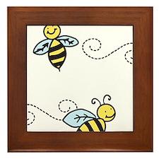 Bees Framed Tile