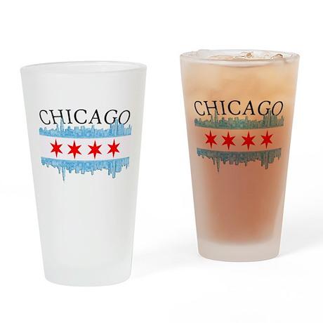 Chicago Skyline Drinking Glass