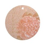 Vintage Romantic Peony Ornament (Round)