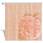 Vintage Romantic Peony Shower Curtain