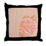 Vintage Romantic Peony Throw Pillow