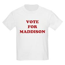 VOTE FOR MADDISON  Kids T-Shirt