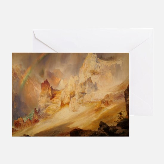 Rainbow over the Canyon Greeting Card