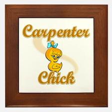 Carpenter Chick #2 Framed Tile