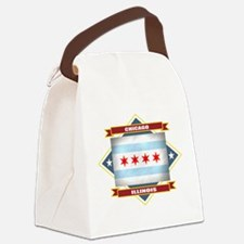 Chicago diamond.png Canvas Lunch Bag