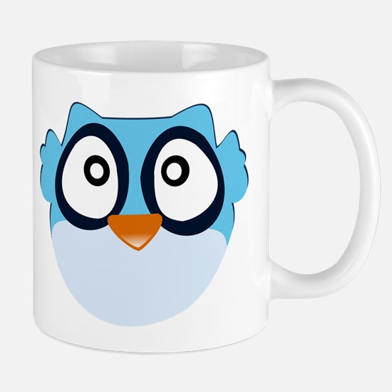 Cute Blue Owl Mug