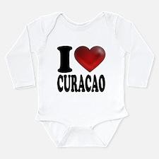I Heart Curacao Long Sleeve Infant Bodysuit
