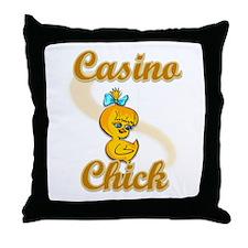 Casino Chick #2 Throw Pillow