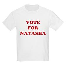 VOTE FOR NATASHA Kids T-Shirt