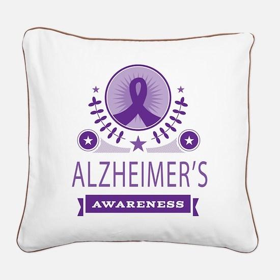 Alzheimer's Disease Vintage Square Canvas Pillow