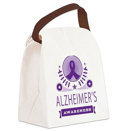 Alzheimer's Disease Vintage Canvas Lunch Bag