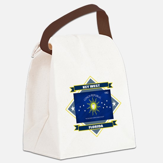 Key West diamond.png Canvas Lunch Bag