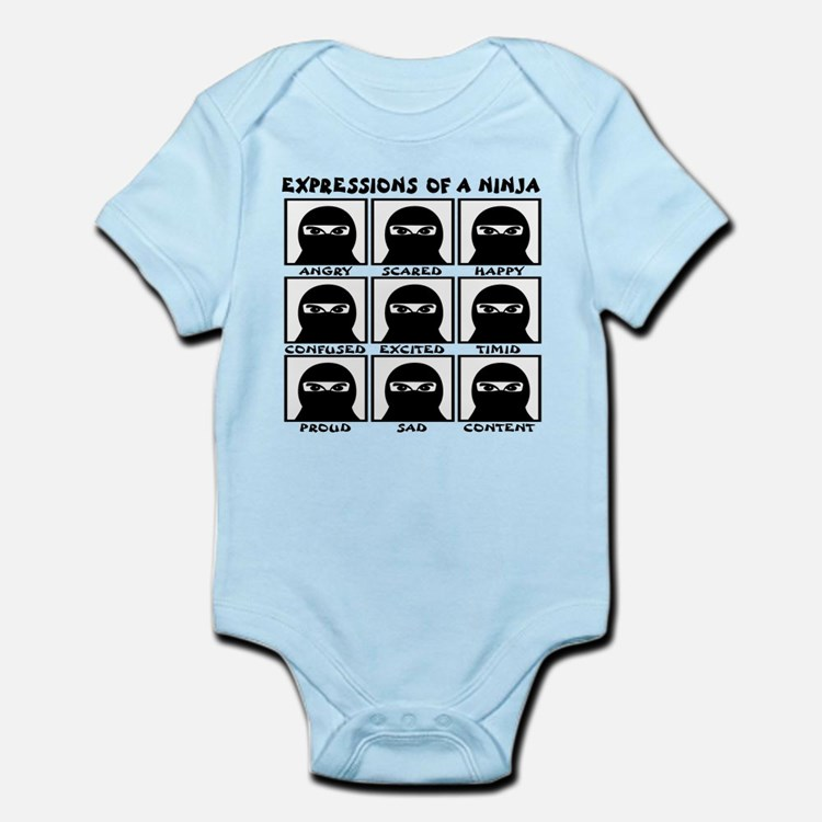Expressions of a Ninja Infant Bodysuit