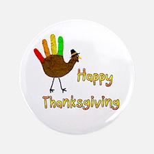 """Hand Turkey - 3.5"""" Button (100 pack)"""