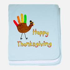 hand Turkey - baby blanket