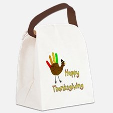 Hand Turkey - Canvas Lunch Bag