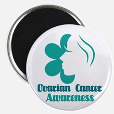 Ovarian Cancer Awareness Lady Magnet