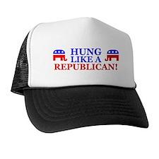 """Hung Like A Republican!"" Trucker Hat"