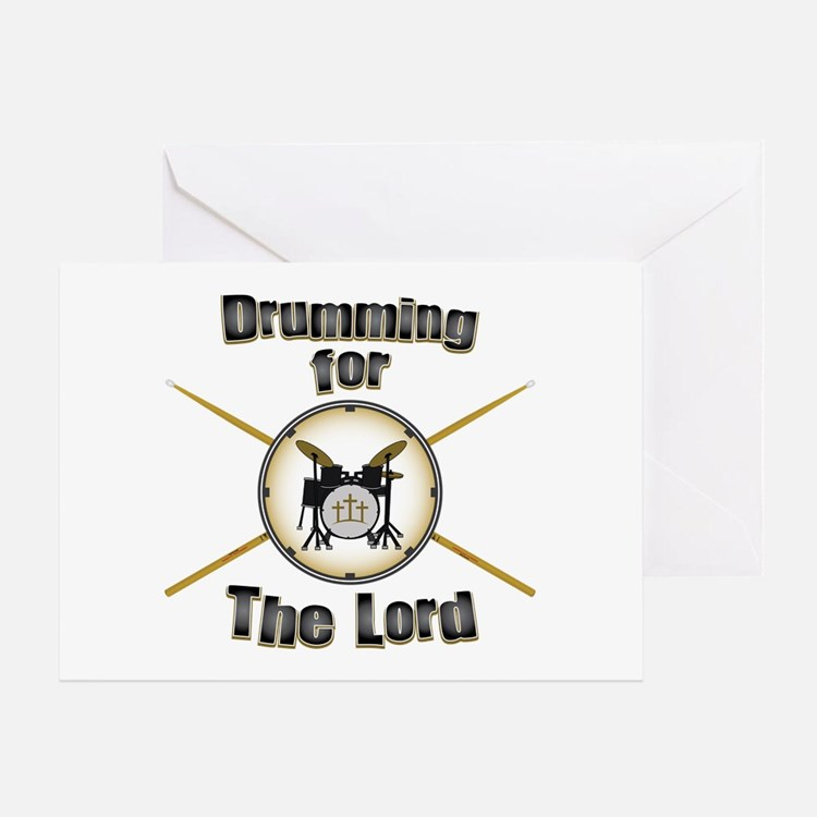 Drumming for the Lord Greeting Card