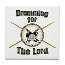 Drumming for the Lord Tile Coaster