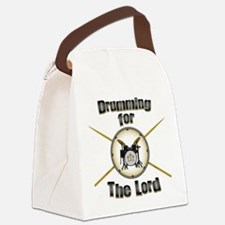 Drumming for the Lord Canvas Lunch Bag