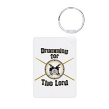 Drumming for the Lord Aluminum Photo Keychain