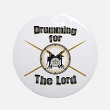 Drumming for the Lord Ornament (Round)