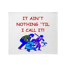 baseball umpire Throw Blanket