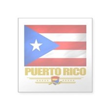 "Puerto Rico (Flag 10).png Square Sticker 3"" x 3"""