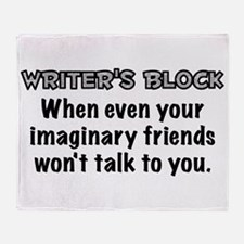 Writers Block Throw Blanket