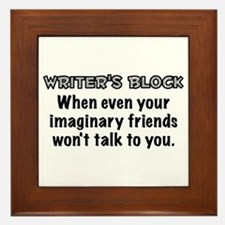 Writers Block Framed Tile