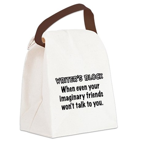Writers Block Canvas Lunch Bag