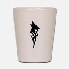 tribal black Shot Glass