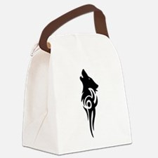 tribal black Canvas Lunch Bag