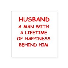 "HUSBAND.png Square Sticker 3"" x 3"""