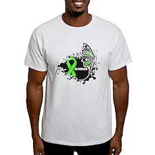 Warrior Lymphoma Butterfy T-Shirt