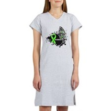 Warrior Lymphoma Butterfy Women's Nightshirt