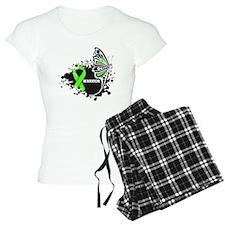 Warrior Lymphoma Butterfy pajamas