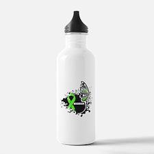 Warrior Lymphoma Butterfy Water Bottle