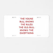 BULLS.png Aluminum License Plate