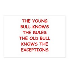 BULLS.png Postcards (Package of 8)