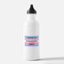 I support my Transgendered Aunt Water Bottle