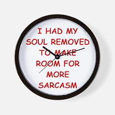 SARCASM.png Wall Clock