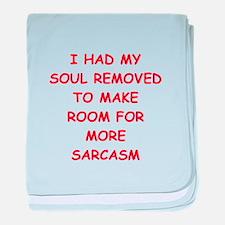 SARCASM.png baby blanket