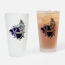 Warrior Hodgkin Disease Drinking Glass
